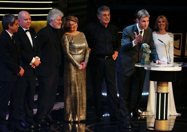Director argentino Damian Szifron recibe el Premio Goya a la Mejor Película Iberoamericana por su cine Relatos Salvajes