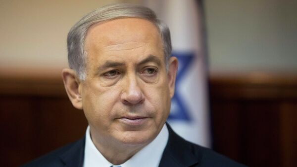 Israeli's Prime Minister Benjamin Netanyahu in his office in Jerusalem February 8, 2015 - Sputnik Mundo