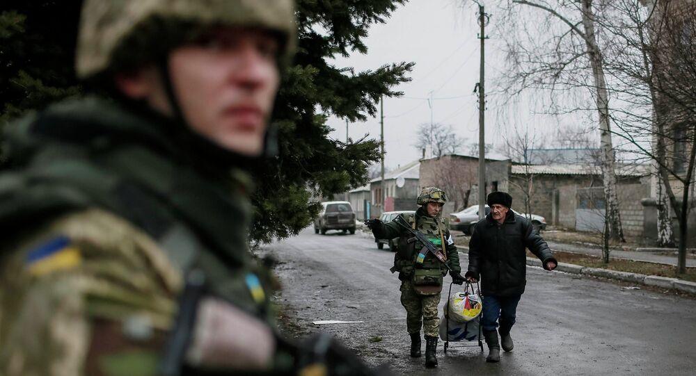 La evacuación de civiles de Debáltsevo