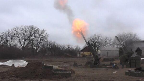 Milicianos de Donetsk bombardean las posiciones de las tropas ucranianas en Debáltsevo - Sputnik Mundo