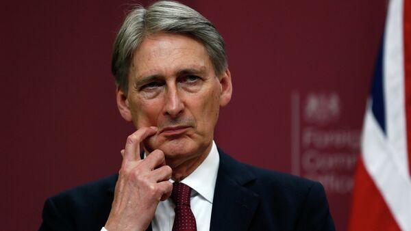 Philip Hammond, ministro de Exteriores británico - Sputnik Mundo
