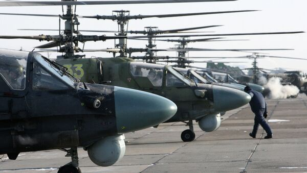 Helicópteros de ataque Ka-52 Alligator - Sputnik Mundo