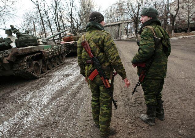 Milicianos de la República Popular de Donetsk