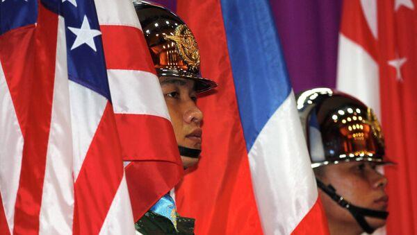 Opening ceremony for Cobra Gold at a military academy in Nakhon Nayok province, east of Bangkok February 9, 2015 - Sputnik Mundo