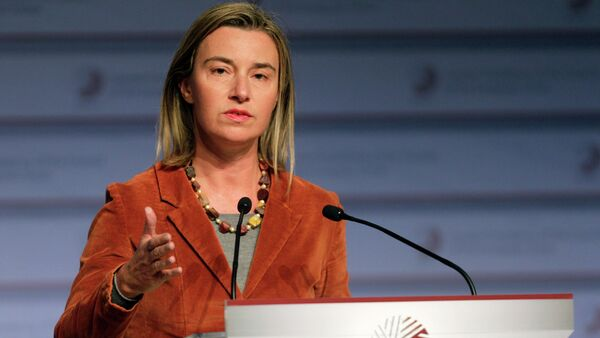 Federica Mogherini - Sputnik Mundo