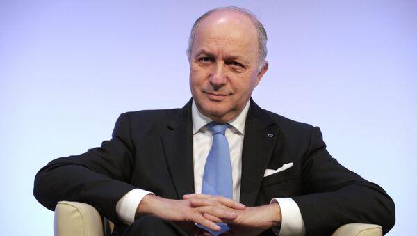 French Foriegn Minister Laurent Fabius - Sputnik Mundo