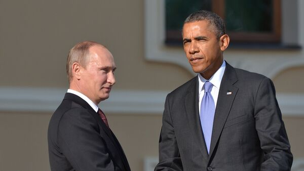 Presidente de Rusia,  Vladímir Putin, y presidente de EEUU, Barack Obama (Archivo) - Sputnik Mundo
