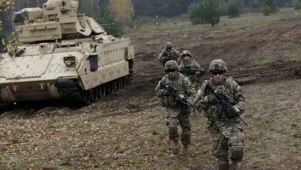 Militares estadounidenses en Letonia (archivo) - Sputnik Mundo