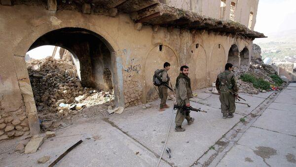 Militantes del Partido de los Trabajadores del Kurdistán (archivo) - Sputnik Mundo