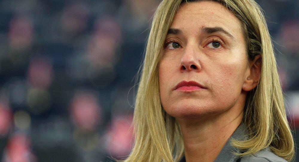 Federica Mogherini, Alta Representante de la UE para la Política Exterior