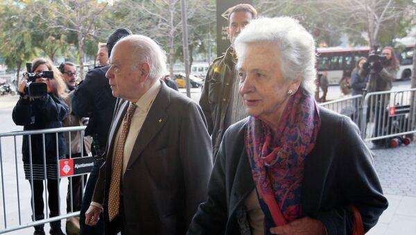 Ex presidente de Cataluña, Jordi Pujol con su esposa Marta Ferrusola - Sputnik Mundo