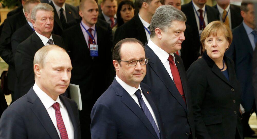 Los líderes de Rusia, Francia, Ucrania y Alemania