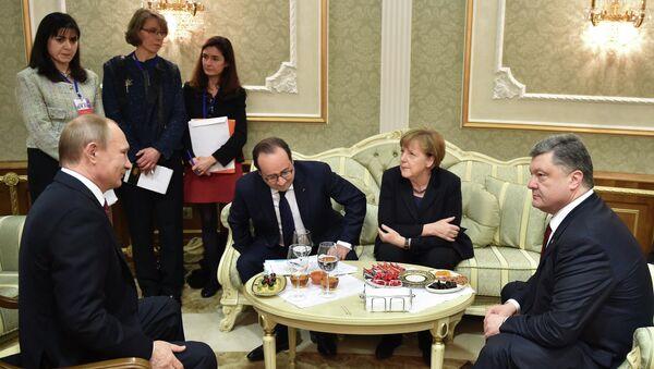 Cumbre en Minsk sobre Ucrania - Sputnik Mundo