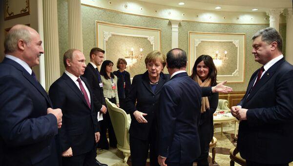Cumbre de Minsk - Sputnik Mundo