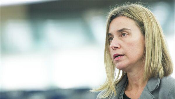 Federica Mogherini, Alta Representante de la UE para la Política Exterior - Sputnik Mundo