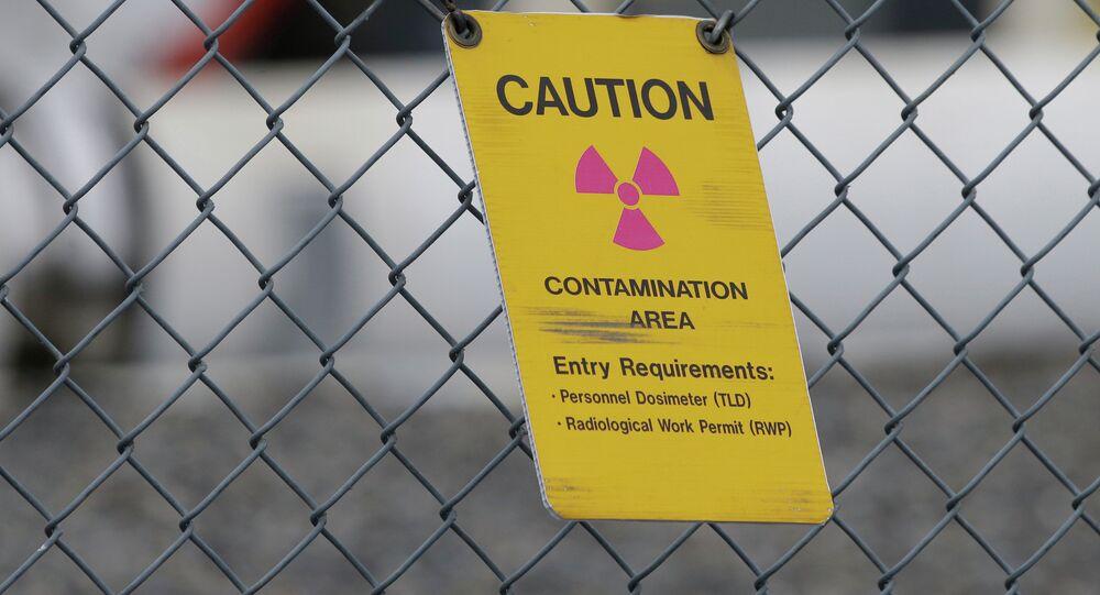 Señal de peligro radiactivo