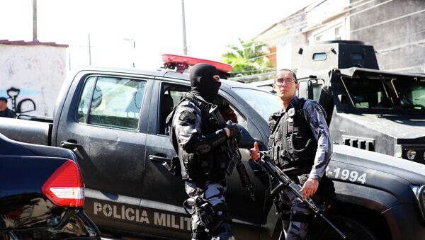 Policía Militar de Río de Janeiro (archivo) - Sputnik Mundo