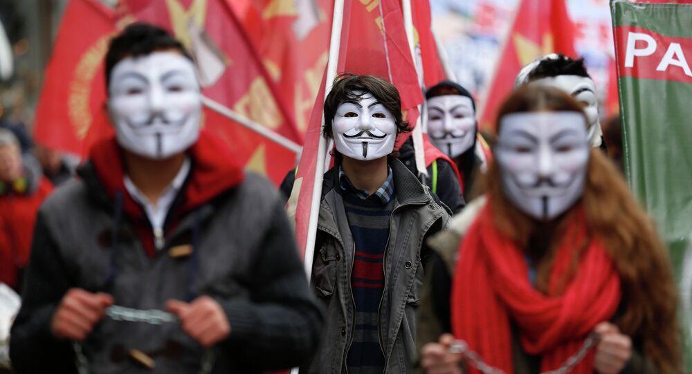 Manifestantes en Estambul, Turquía