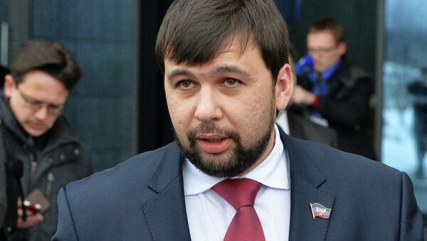 Denís Pushilin, representante de la autoproclamada República Popular de Donetsk (RPD) - Sputnik Mundo