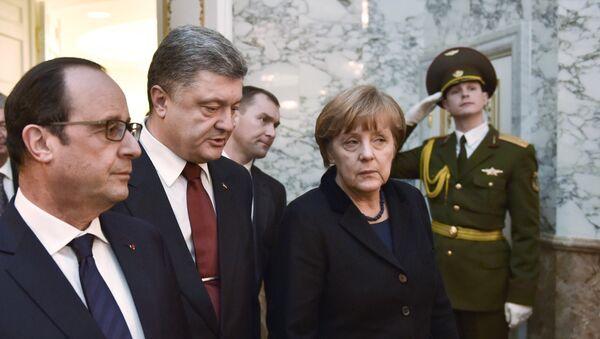 Переговоры лидеров России, Германии, Франции и Украины в Минске - Sputnik Mundo