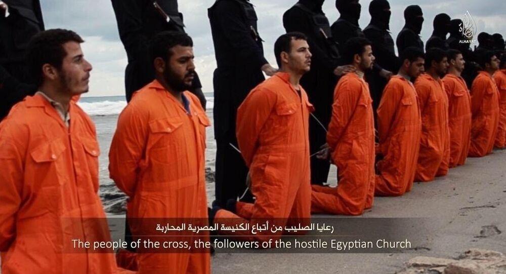 Ejecución de cristianos por Daesh (Archivo)