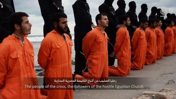Ejecución de cristianos por Daesh (Archivo) - Sputnik Mundo