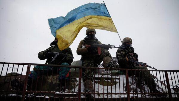 Los soldados ucranianos (archivo) - Sputnik Mundo