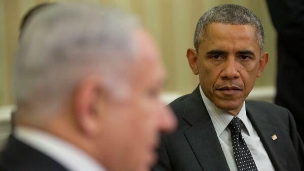 Primer ministro de Israel, Benjamín Netanyahu y presidente de EEUU, Barack Obama - Sputnik Mundo