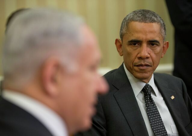 Primer ministro de Israel, Benjamín Netanyahu y presidente de EEUU, Barack Obama