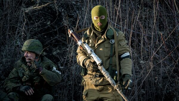 Milicias de la autoproclamada RPD cerca de Debáltsevo - Sputnik Mundo
