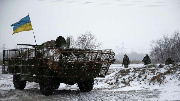 Soldados ucranianos cerca de la ciudad de Debáltsevo - Sputnik Mundo
