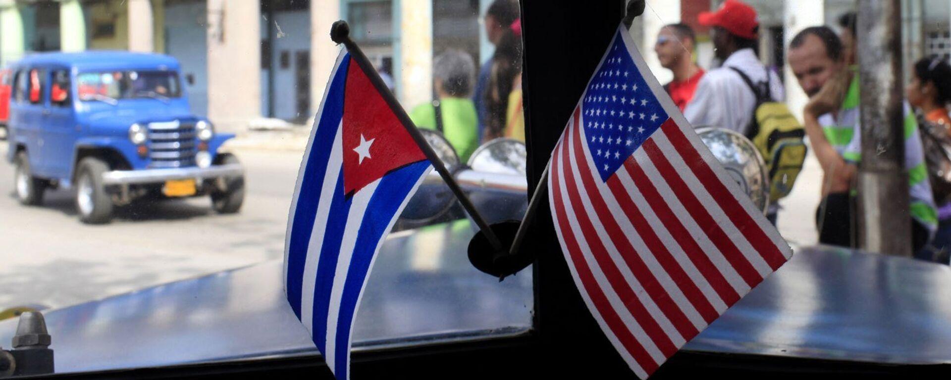 Banderas de EEUU y Cuba - Sputnik Mundo, 1920, 22.07.2021
