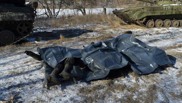 Cuerpos de los militares ucranianos asesinados en Debáltsevo - Sputnik Mundo