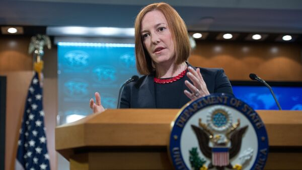 US State Department spokeswoman Jen Psaki - Sputnik Mundo