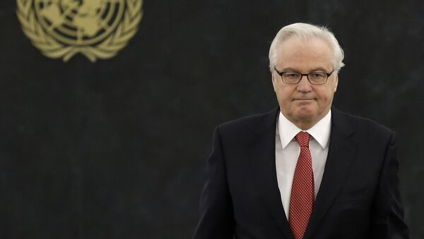 Vitali Churkin, embajador de Rusia ante ONU - Sputnik Mundo