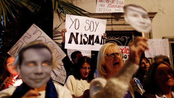 Miles de argentinos rinden homenaje al fiscal Nisman en marcha de silencio (archivo) - Sputnik Mundo