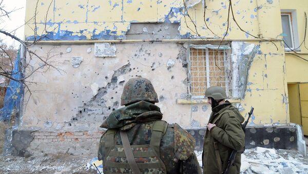 Ситуация в поселке Счастье, 14 февраля 2015 - Sputnik Mundo