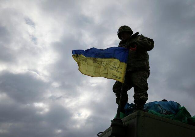 Militar ucraniano en Debáltsevo (archivo)