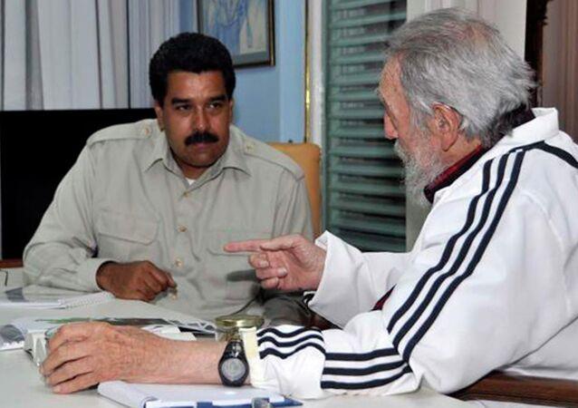 Nicolás Maduro y Fidel Castro (archivo)
