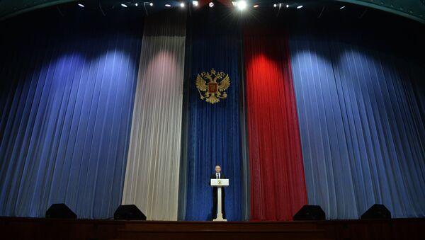 Президент РФ В.Путин на торжественном вечере, посвящённом Дню защитника Отечества - Sputnik Mundo