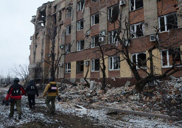 Periodistas en Ucrania