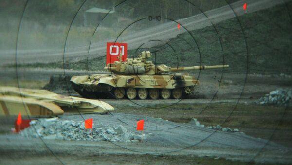 Blindado ruso T-90S,  en Russian Expo Arms-2013 - Sputnik Mundo