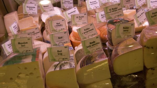 Сыр на прилавке в Вроцлаве - Sputnik Mundo