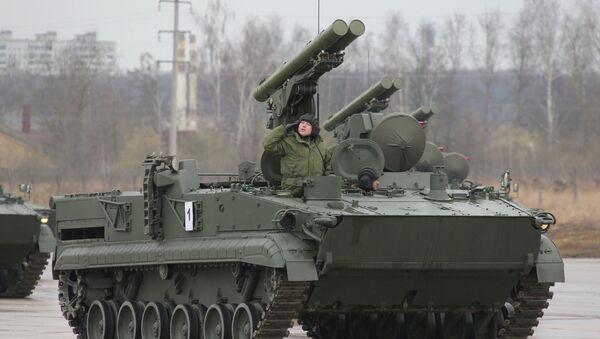 Sistema antitanque ruso Crisantemo-S - Sputnik Mundo
