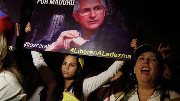 Manifestación en apoyo al opositor venezolano Antonio Ledezma - Sputnik Mundo
