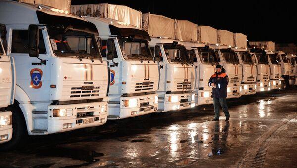 Camiones con la ayuda humanitaria rusa para Donbás - Sputnik Mundo