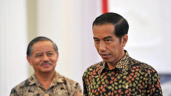Joko Widodo, presidente de Indonesia (a la derecha) - Sputnik Mundo