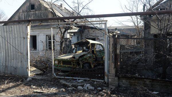 Casas destruidas, Donetsk - Sputnik Mundo