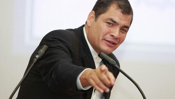 Ecuador President Rafael Correa at Peoples Friendship University - Sputnik Mundo