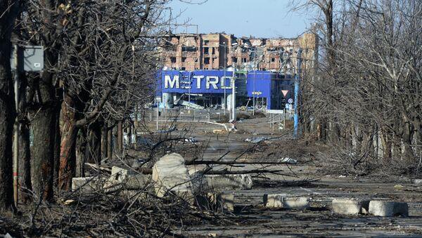 Вид на гипермаркет Metro в поселке Октябрьский рядом с аэропортом города Донецка - Sputnik Mundo